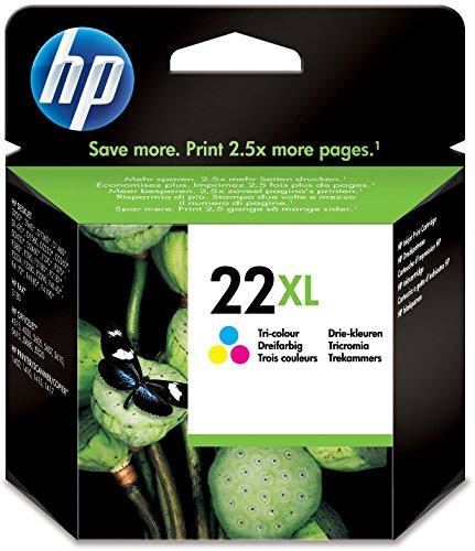 HP 22XL Farbe Original Druckerpatrone mit hoher Reichweite für HP Deskjet 3940, D1530, D2360, D2460, F2180, F2224, F380, F4180; HP Officejet 4315, 4355, 5610, 5615; HP PSC 1410