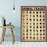 Pozino Animal Tracks Metal Sign Animal Lover...