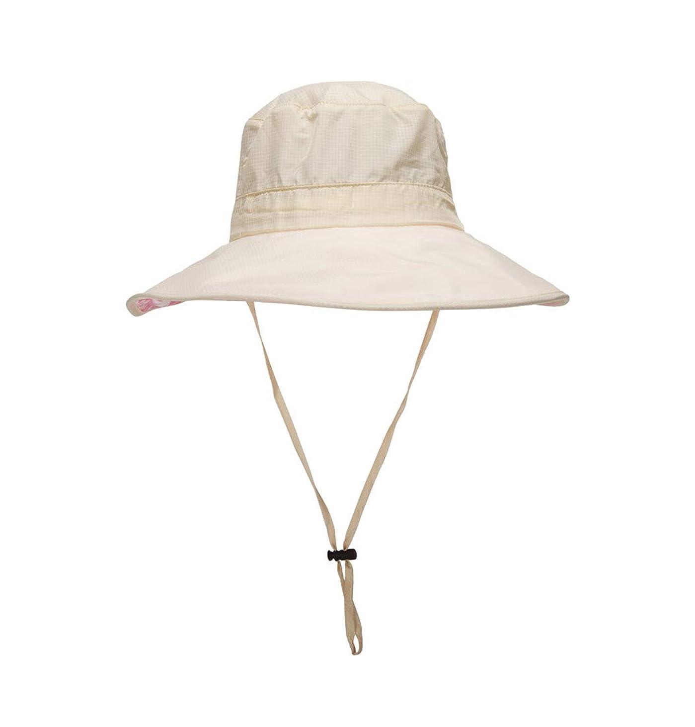 敗北抵抗力がある加速する(コネクタイル)Connectyle メンズ レディース つば広 サファリハット メッシュ アウトドア 折りたたみ UVカット 防水 帽子 夏 釣り帽