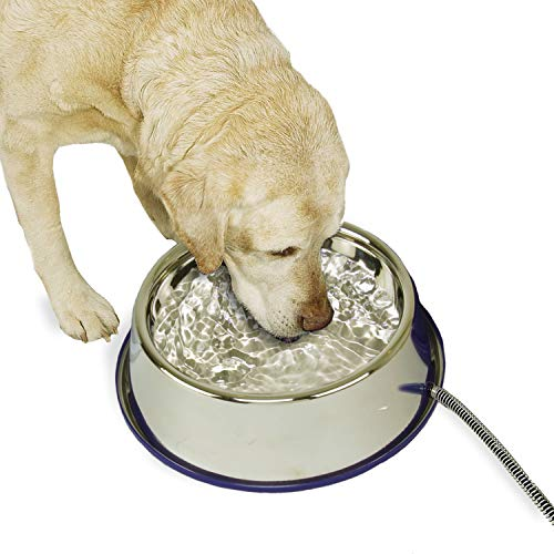 K&H Pet Products 2030 K&H Manufacturing Thermal-Bowl Stainless Steel 102 Oz. 25 Watts