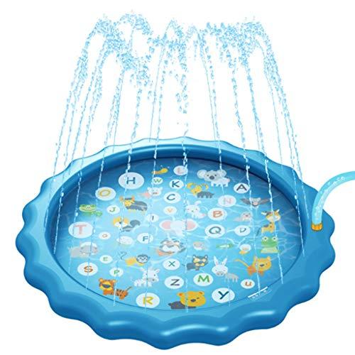Baby Water Splash Mat, Splash Pad, 68 '' Opblaasbare Sprinkler Pad Voor Buiten Waden Zwembad Leren Kinderen Sprinkler Zwembad Voor Het Strand/Zwembad/Tuin/Dek/Achtertuin/Zomer