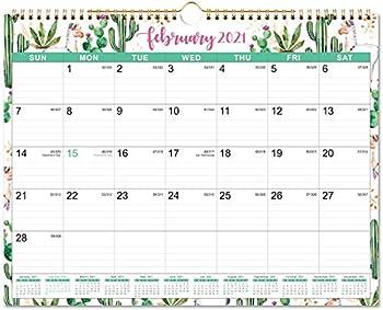 Lemome 2021 Wall Calendar with Julian Date