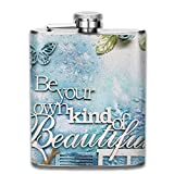 EJUNLEKEJI Flachmann aus Edelstahl,Be Your Own Kind of Beautiful Hip Flask Pocket Stainless Steel...