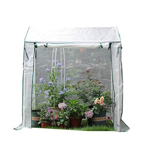 Sala de plantas de carpa de invernadero de jardín, invernadero portátil con puerta corredera, invernadero de cobertizo de flores a prueba de lluvia y anticongelante, para césped-terraza-jardín