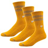 Arvin Goods Recycled Cotton Crew Socks 3 Pack Men/Women 12 Colors