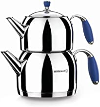 Korkmaz Flora Maxi Blue Tea Pot Set, A119-02