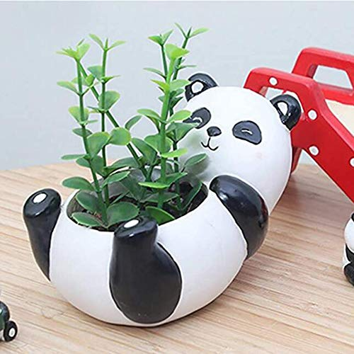 Panda Kunstmatige vetplant potten hars mini bloempot tuinplanten vaas bureau bloemdecoratie (Panda)