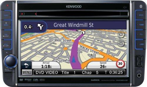 Kenwood DNX 520 VBT Moniceiver mit All-In-One Navigationssystem (17,7 cm / 7 Zoll Doppel-DIN Monitor, DVD Player, DivX-zertifiziert, USB) schwarz