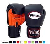 Twins Special Muay Thai Boxing Gloves BGVLA Air Flow - 12 Oz. Orange/Black