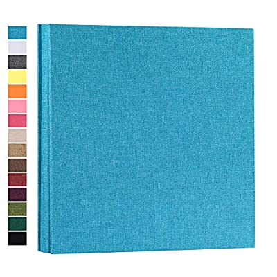 potricher Photo Album for 4x6 600 Photos Linen Cover Extra Large Capacity Photo Book for Family Wedding Anniversary Baby (Blue, 600 Pockets)