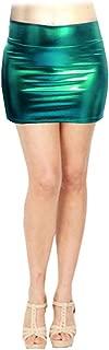 SACASUSA (TM Shiny Stretchy Metallic Liquid Wet Look Mini Skirts 10 Colors
