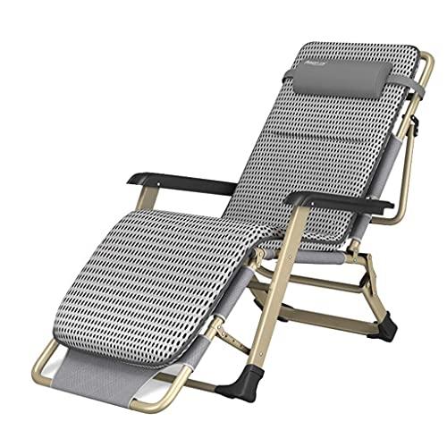 Tumbonas reclinables para jardín, tumbonas, sillas de Gravedad Cero, Tumbona reclinable para Relajarse, Plegable, Ajustable para Patio, Acampar al Aire Libre, Playa, tumbonas