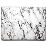 Crazyink White Marble Laptop Skin Sticker Laptop Skin/Sticker/Cover/Decal Compatible for Any 15.6 Inches Laptop Multicolor