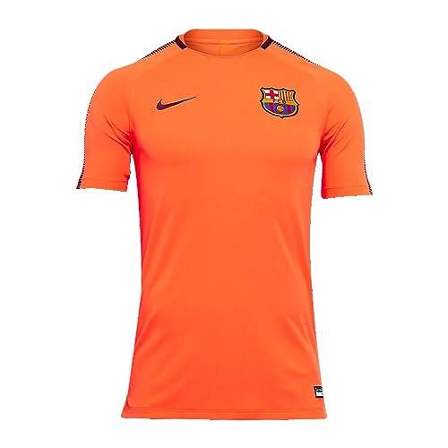 5fb8a0b7c NIKE Barcelona Squad Training Top 2017 2018 - Orange