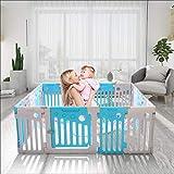 Umay - Recinzione per bambini, per interni ed esterni, 18 pannelli