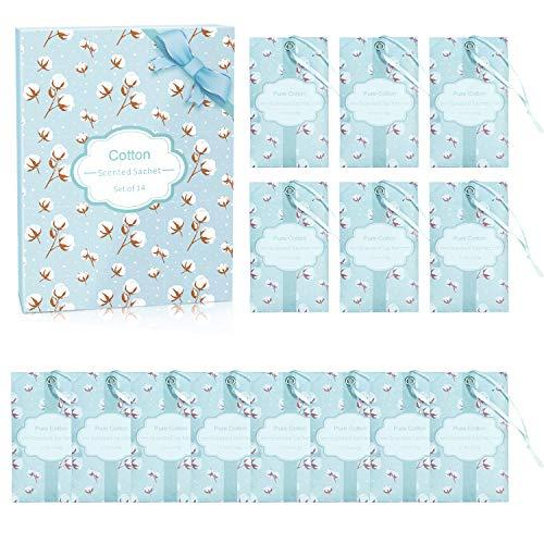 SCENTORINI Duftsäckchen Duftbeutel Baumwolle Duft Sachets für Schubladen und Schränke, Duft aus naturreines ätherisches Öl 14 Pack