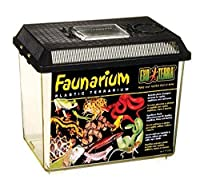 Ideal to transport terrarium animals or live foods Great for temporary housing or quarantine Transparent plastic door for easy access Great ventilation; Easy to clean and disinfect Measures 20.40 x 29.80 x 25.00 CM