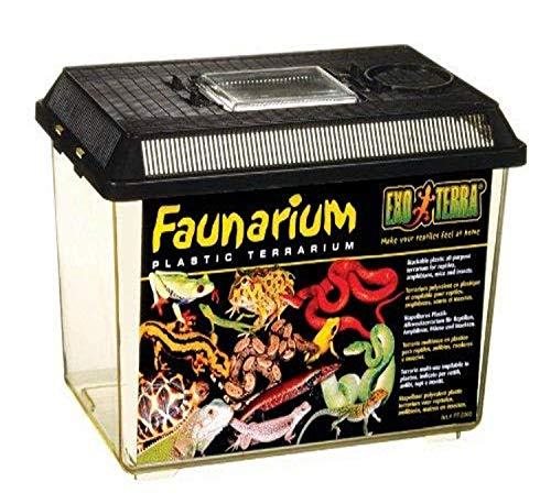Exo Terra Faunarium mittel - Plastikterrarium für Reptilien, Amphibien, Mäuse und Insekten, 30x19,3x20,6 cm