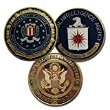 lovesports2013 Lots of 2 FBI CIA 24K G-P Challenge Coin