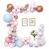 Fontee® 115pcs Valentinstag Ballons, Macaron Ballons Chain Set Pastell Ballons Arch Geburtstag Hochzeit Valentinstag Dekorationen Supplies Ballon Garland Candy Party Baby Shower Party Supplies