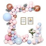 Fontee 115pcs Valentinstag Ballons, Macaron Ballons Chain Set Pastell Ballons Arch Geburtstag Hochzeit Valentinstag Dekorationen Supplies Ballon Garland Candy Party Baby Shower Party Supplies