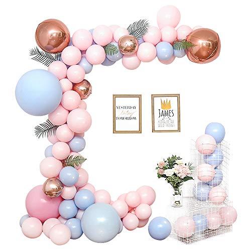 Fontee 115 pezzi Macaron Palloncini per Valentine's Day, Palloncini Arco Compleanno Matrimonio Decorazioni Forniture Palloncino Ghirlanda Caramelle Festa per bambini Baby Shower Forniture per feste