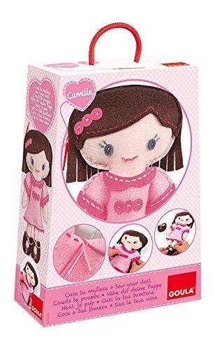 Goula- CREA tu muñeca Camille, Multicolor (Diset 52022)