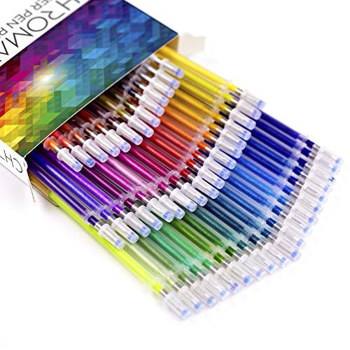 New /& Improved Professional Art Pens No Repeats /… Glitter Pens 100 Set by Chromatek 200/% The Ink: 50 Gel Pens Perfect Gift 50 Refills Super Glittery Ultra Vivid Colors Best Colors