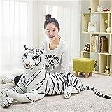 Peluche de juguete muñeca gigante 30-120cm Negro Leopard Pantera juguetes de peluche relleno suave almohada Animal Animal amarillo tigre blanco juguetes for los niños ( Color : 4 , Height : 30cm )