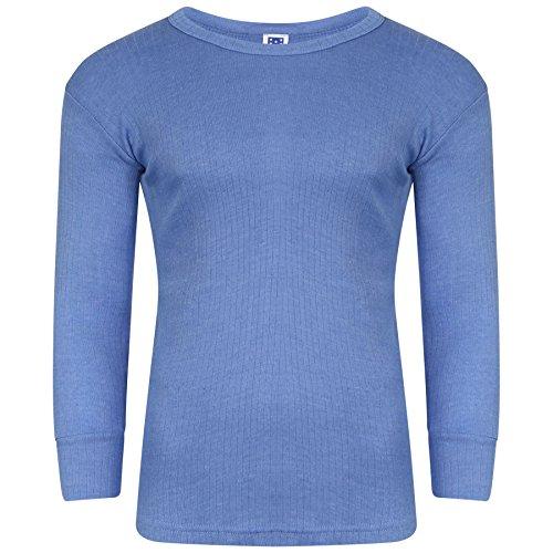 YCC® Herren-Thermo-Unterhemd, langärmelig, für Camping, Ski, Outdoor, Größe S-2XL Gr. XL, 3 x Blau
