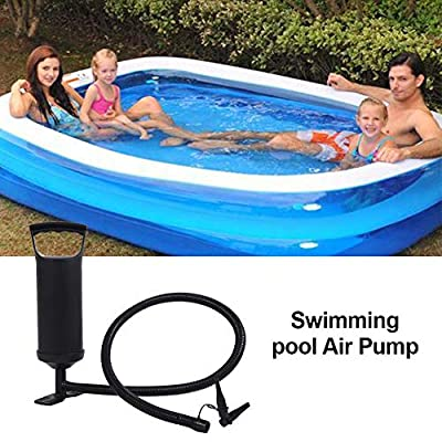 Portable Quick-Fill Air Pump for Inflatables, Air Pump Hand Pump Pool Air Inflator for Inflatable Swimming Pool Inflation Air Mattress, Boats, Pool Toy, Swimming Ring