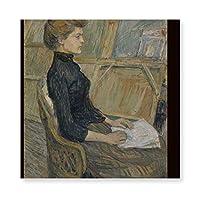 INOV ヘレネ·ヴァリ(1889)トゥールーズロートレック著 キャンバス アートパネル アートフレーム フレーム アートボード 部屋飾り 壁掛け ソファの背景絵画 木枠セット(40*40cm)