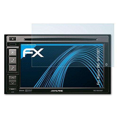 atFoliX Schutzfolie kompatibel mit Alpine INE-W970BT Folie, ultraklare FX Displayschutzfolie (3X)