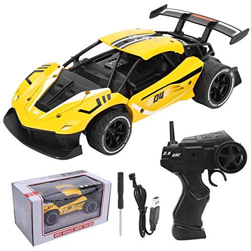 Modelo de coche Juguete Juguetes inalámbricos Carreras de coches de control remoto Adolescentes de juguete al aire libre (amarillo)