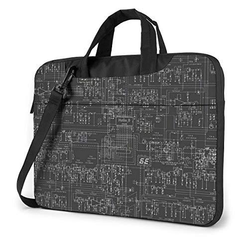 AOOEDM Laptop-Tasche Computer-Tasche Ärmelabdeckung, Informatik Multifunktionale wasserdichte Reisetablett Schulter Aktentasche Stoßdichte Tragetasche in 13 14 15,6 Zoll