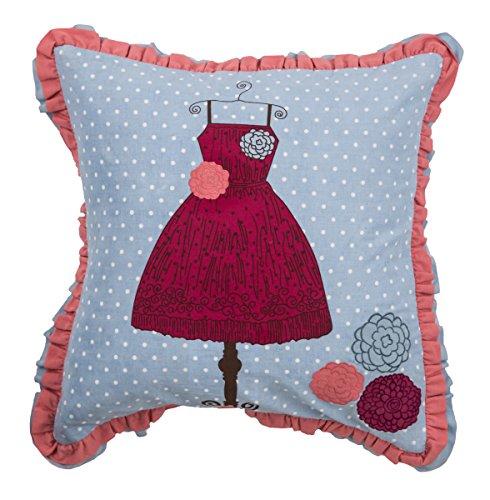 Rizzy Home pilt06902blpi1818niños del vestido decorativo almohada, azul