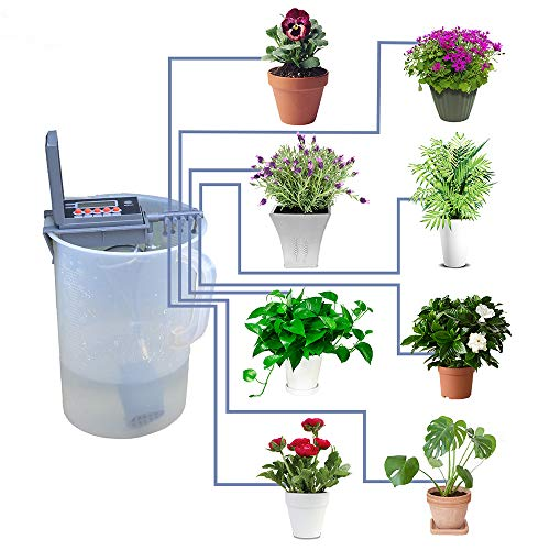 Automatic Micro Drip Irrigation Kit Watering Timer Irrigation Controller Watering System for Indoor...