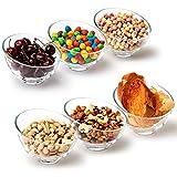 EZOWare Cuencos para Cereales de Vidrio, Set de 6 Cuenco Inclinado Apilables de Cristal - Ideal para Servir Ensalada, Sopa, Cereales, Bocadillos, Helado, Arroz, Postre - 400 ml / 14 cm