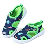 tombik Toddler Boy Shoes Kids Summer Beach Water Sandals for Pool Swim Blue/Green/Dinosaur 6 US Toddler