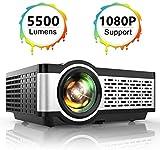 Projector, TOPTRO Mini Projector 5500 Lumens Native 1080*720P Portable LCD Home Theater Video