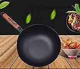 LEHONG Padelle da Chef Padella Antiaderente Padella in Ferro, Diametro 30 * 9 cm