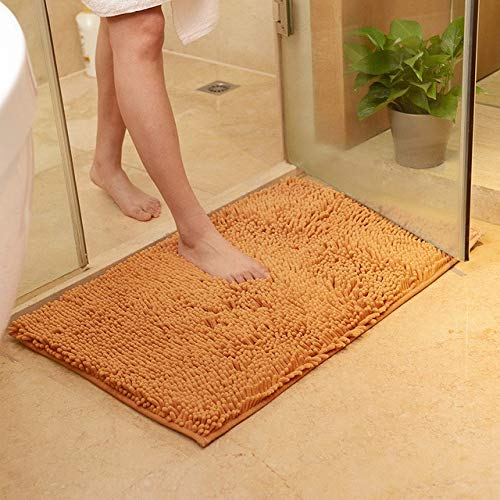 MYSdd Non Slip Bath Mat Bathroom Carpet,Tapis Salle de Bain,Mat in the Bathroom Comfortable Bath Pad,Large Size Bedroom Bathroom Rugs - Champagne,about 80x120cm