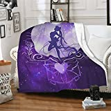 Soft Sailor Moon Blanket, 100 X 130 Cm/130x150cm Throw Suitable for Sofa or Bed(50
