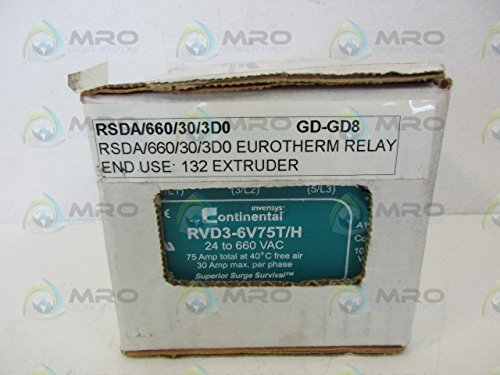 RVD3 6V75T/H Continental DIN Rail Three Phase Solid State Relay