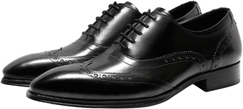 LYMYY Herrenschuhe, Handgefertigte High-End-Business-Schuhe, Mode Spitz Geschnitzte Formale Kleidung Oxford Herrenschuhe