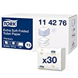 Tork 114276 Feuilles de papier toilette extra doux Premium - Blanc - 2 plis - 7560...
