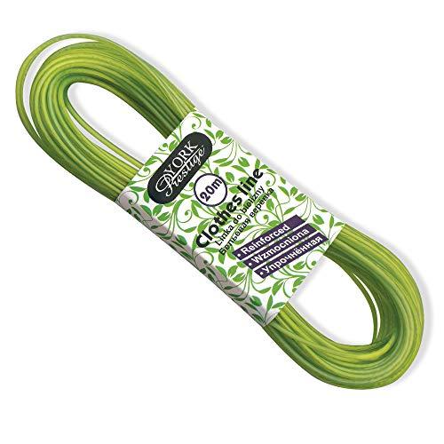 York Prestige Wäscheleine Grün oder Violett, PVC, Stahl, One Size