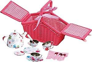 Small Foot Company 9980  Picknickkorb für Kinder ab 3, mit 18 Teilen, für Puppenmuttis