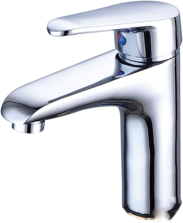 Copper Faucet Hot And Cold Basin Faucet Washbasin Single Hole Basin Faucet