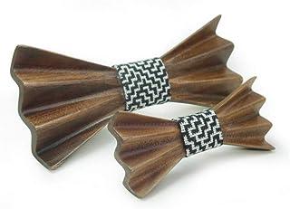 3D DIY Men's Women's Wooden Bow Tie Handmade Wooden Bowknot Handkerchief Set Party Business Knot Wedding Dinner Accessorie...